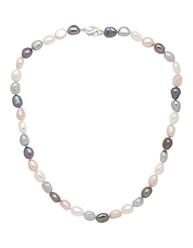 Honora Style Multi Coloured Freshwater Pearl Necklace-MULTI COLOURED-One Size