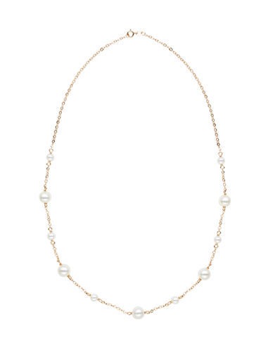 Honora Style 5mm-8.5mm Potato Pearl and 14K Yellow Gold Necklace-WHITE-One Size