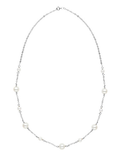 Honora Style 5MM-8.5MM Potato Pearl and 14K White Gold Necklace-WHITE GOLD-One Size