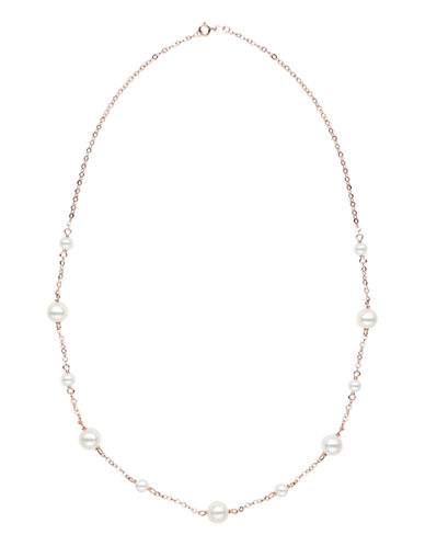 Honora Style 5MM-8.5MM Potato Pearl and 14K Rose Gold Necklace-ROSE GOLD-One Size