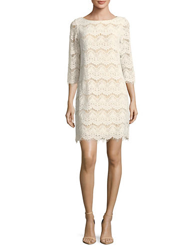 Eliza J Lace Shift Dress-WHITE-14