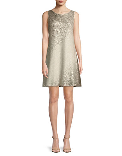 Eliza J Sleeveless Shift Dress-GOLD-12