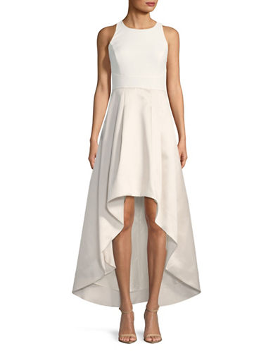 Eliza J Sleeveless Hi-Lo Gown-WHITE-2