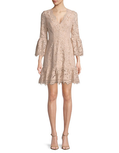 Eliza J Lace Bell-Sleeve Dress-BLUSH-14