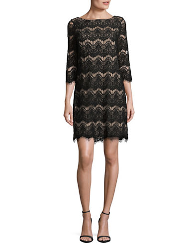 Eliza J Lace Shift Dress-BLACK-14