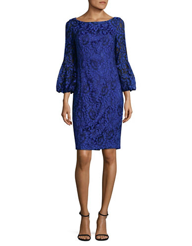 Eliza J Bell-Sleeve Sheath Dress-COBALT-8
