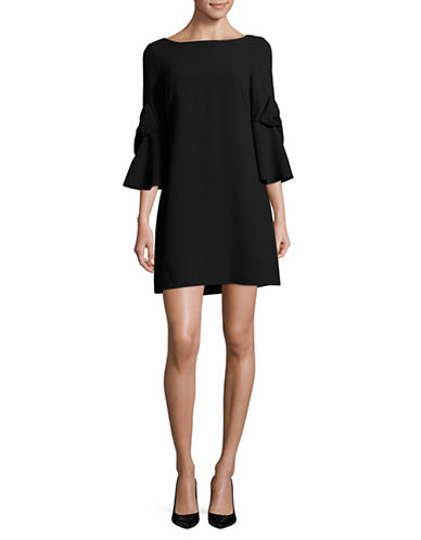 Eliza J Bell-Sleeve Shift Dress-BLACK-14