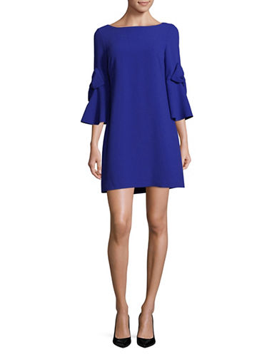 Eliza J Bell-Sleeve Shift Dress-COBALT-6