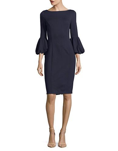 Eliza J Puff Sleeve Sheath Dress-BLUE-4