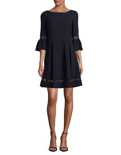Eliza J Bell Sleeve Fit-and-Flare Dress-BLUE-2