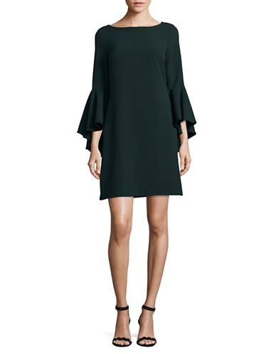 Eliza J Bell-Sleeve Sheath Dress-GREEN-6
