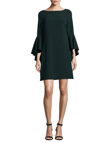 Eliza J Bell-Sleeve Sheath Dress-GREEN-2