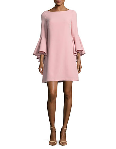 Eliza J Bell-Sleeve Sheath Dress-PINK-10