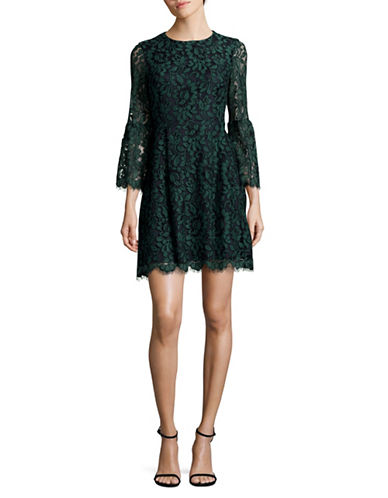 Eliza J Lace Fit-And-Flare Dress-GREEN-8