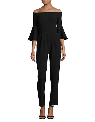 Eliza J Off-Shoulder Jumpsuit-BLACK-14