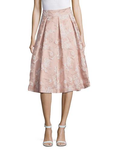 Eliza J Floral Midi Skirt-BLUSH-8