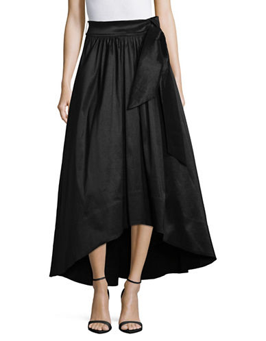 Eliza J Hi-Lo Tie-Waist Ball Skirt-BLACK-4