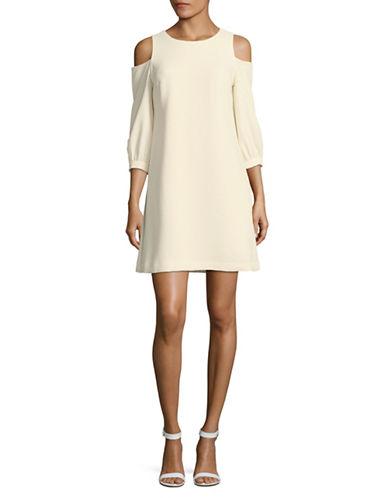 Eliza J Cold-Shoulder Shift Dress-IVORY-8