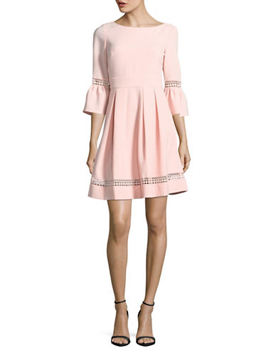 Eliza J Bell Sleeve Fit-and-Flare Dress-BLUSH-6