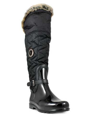 Santana Canada Rainy Day Clarissa2 Over-the-Knee Boots with Faux Fur-BLACK-7