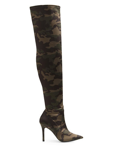Aldo Sailors Over-The-Knee Boots-GREEN-8.5