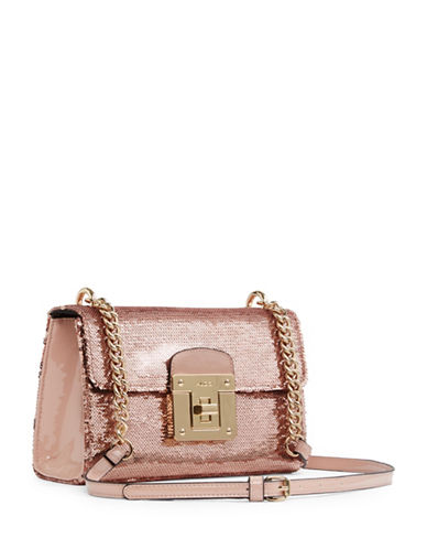 Aldo Sequin Flap Crossbody Bag-PINK-One Size
