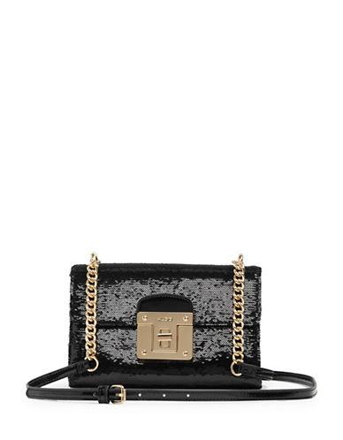 Aldo Tamarind Sequined Crossbody Bag-BLACK/GOLD-One Size