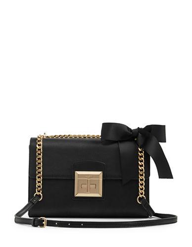 Aldo Pebbled Flap Crossbody Bag-BLACK-One Size