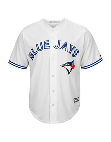 Majestic Toronto Blue Jays Cool Base Home Jersey-WHITE-Large