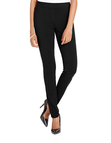 Style And Co. Stretch Seam-Front Ponte Leggings-BLACK-Small