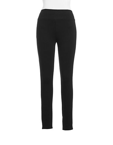 I.N.C International Concepts Petite Ponte Pull-On Pant-BLACK-Petite 8
