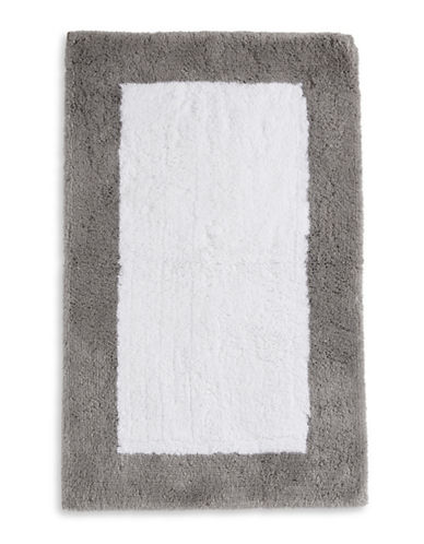 Hotel Collection Thick Pile Cotton Bath Rug-CHARCOAL-One Size