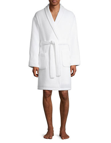 Hotel Collection Turkish Cotton Waffle Robe-WHITE-One Size