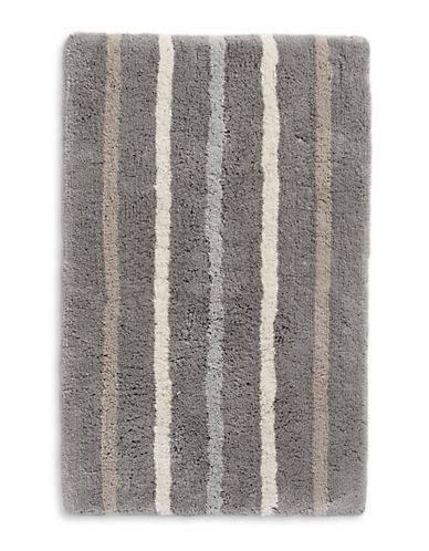Hotel Collection Striped Cotton Bath Rug-CHARCOAL-21x34