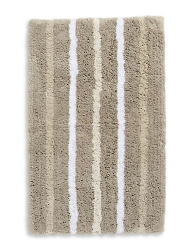 Hotel Collection Striped Cotton Bath Rug-LINEN-21x34