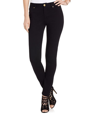 I.N.C International Concepts Skinny Ponte Jeans-BLACK-0