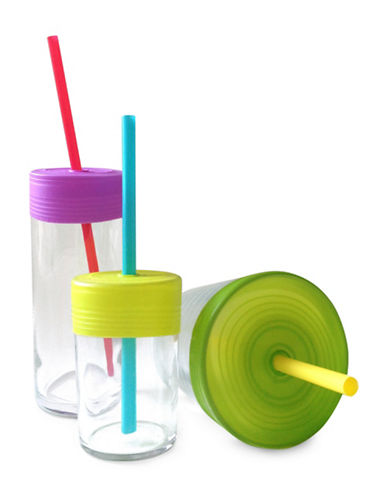 Silikids Three-Pack Siliskin Straw Top-MULTI-One Size