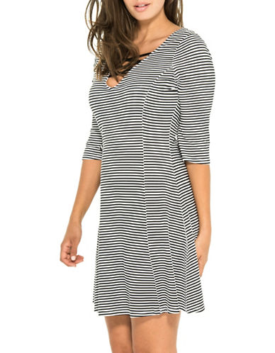 Everyday Sunday Seas The Day Striped Cover-Up Tunic-STRIPE-Small