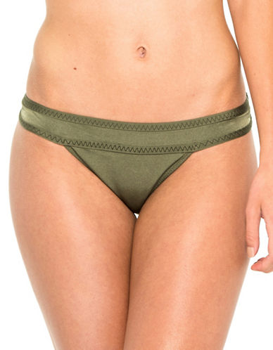Everyday Sunday Fancy Signature Low Rise Bikini Bottom-DEEP LICHEN GREEN-Small