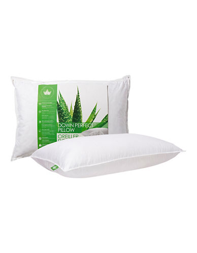 Canadian Down And Feather Firm Support White Goose Down Perfect Pillow-WHITE-King