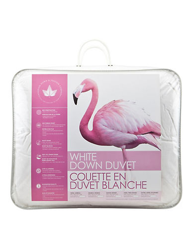 Canadian Down And Feather Medium Weight White Duck Down Duvet-WHITE-Double