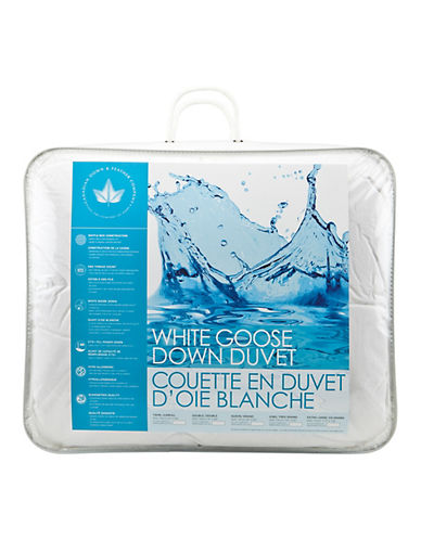 Canadian Down And Feather Light Weight White Goose Down Duvet-WHITE-King