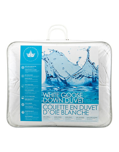 Canadian Down And Feather Medium Weight White Goose Down Duvet-WHITE-Queen
