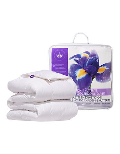 Canadian Down And Feather All Season Weight Canadian Hutterite Goose Down Duvet-WHITE-Queen