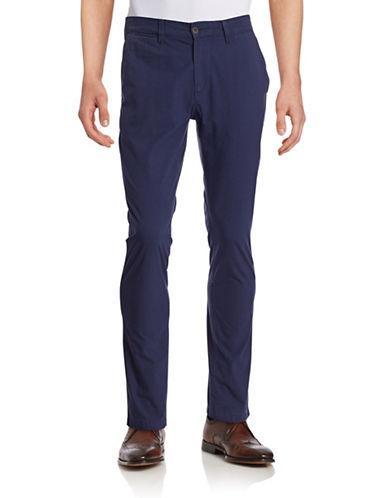 Nn07 Marco Slim-Fit Twill Pants-NAVY-30X32