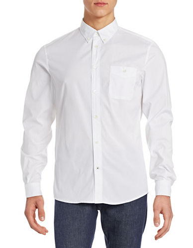 Nn07 Regular Fit Sport Shirt-WHITE-X-Large