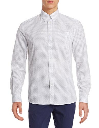 Nn07 Floral Print Sport Shirt-WHITE-X-Large