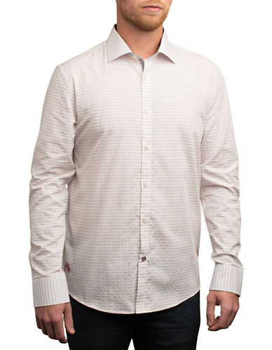 English Laundry Micro Geometric Dobby Shirt-EIVY IVORY-Small