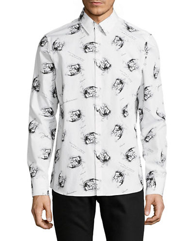 English Laundry Printed Lyric Sport Shirt-BLACK-Large