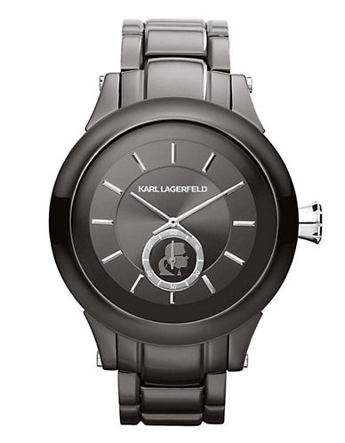 Karl Lagerfeld Karl Silver Stainless Steel Watch-SILVER-One Size